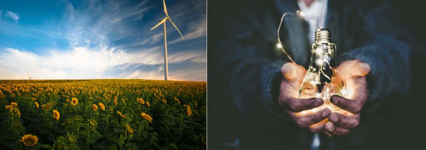 Renewable energy | man holding lightbulb