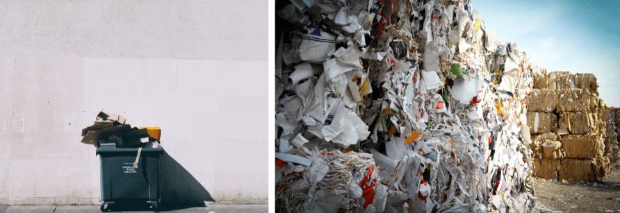 Garbage bin | paper waste