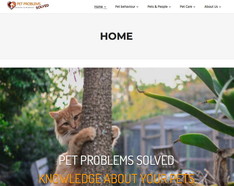 pet problems solved website