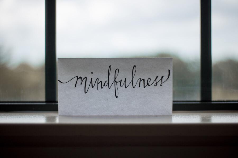 mindfulness written on paper
