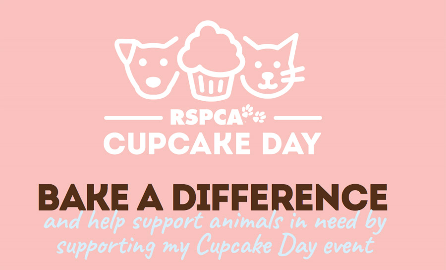 RSPCA Cupcake day flyer